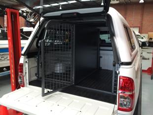 dog barrier for truck